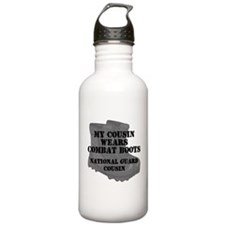 National Guard Cousin Combat Boots Water Bottle