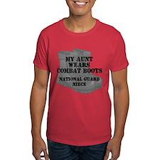 National Guard Niece Aunt Combat Boots T-Shirt