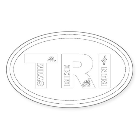 Triathlon Oval Sticker