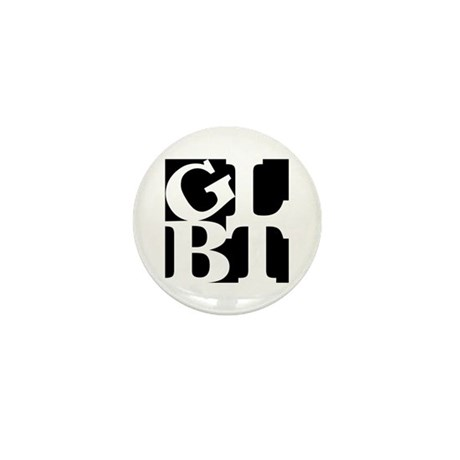 GLBT Black Pop Mini Button
