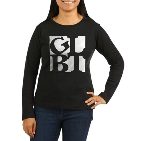 GLBT White Pop Women's Long Sleeve Dark T-Shirt