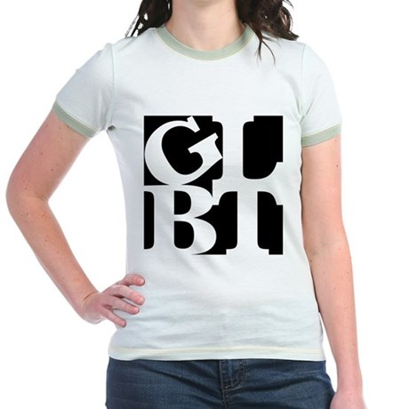 GLBT Black Pop Jr. Ringer T-Shirt