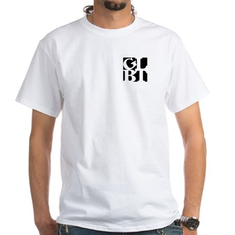 GLBT Black Pocket Pop White T-Shirt