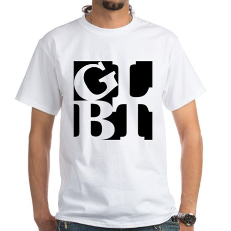 GLBT Black Pop White T-Shirt