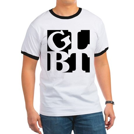 GLBT Black Pop Ringer T