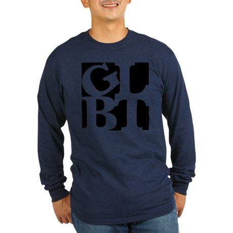 GLBT Black Pop Long Sleeve Dark T-Shirt