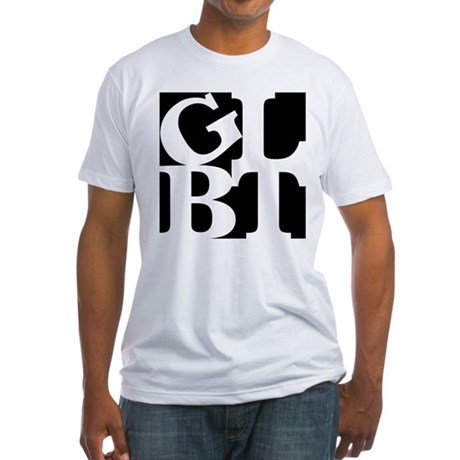 GLBT Black Pop Fitted T-Shirt