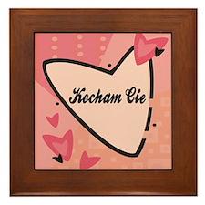 I Love You in Polish Framed Ceramic Tile