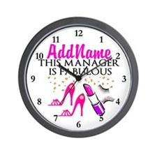 PERSONALIZE MANAGER Wall Clock