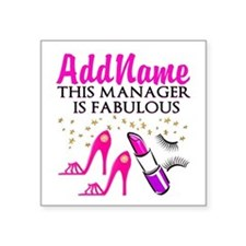 "PERSONALIZE MANAGER Square Sticker 3"" x 3"""