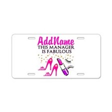 PERSONALIZE MANAGER Aluminum License Plate