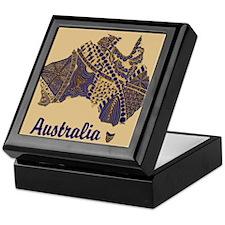 Personalizable Australia Decorative Map Keepsake B