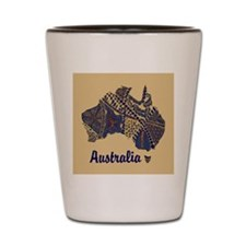 Personalizable Australia Decorative Map Shot Glass