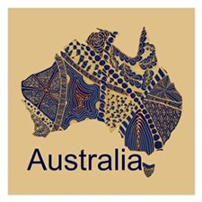 Customizable Australia Souvenir Decorative Map Inv