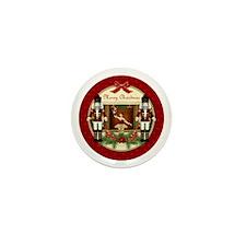 Red Nutcracker Ballerina Round Mini Button (10 Pac