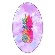 Bright Neon Hawaiian Pineapple Trop Decal