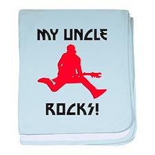 My Uncle Rocks! baby blanket