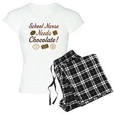 School Nurse chocolate Pajamas