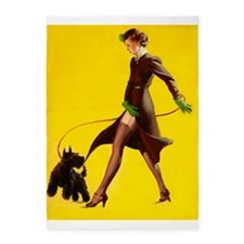 Pin Up Girl, Walking, Scottie Dog,Vintage Poster 5