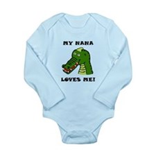 My Nana Loves Me Alligator Body Suit