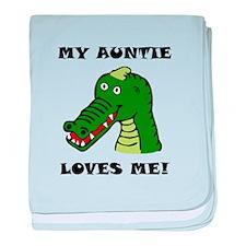 My Auntie Loves Me Alligator baby blanket