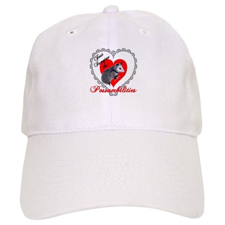 Possum Valentines Day Heart Cap