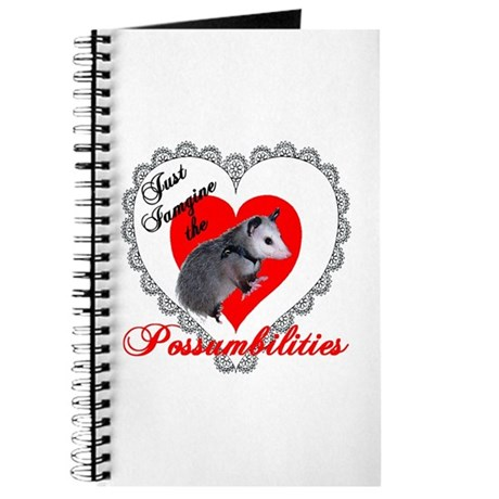 Possum Valentines Day Heart Journal