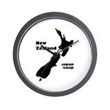 """NZ Down Under"" Wall Clock"