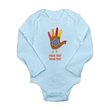 Personalize Thanksgivukkah Long Sleeve Infant Body