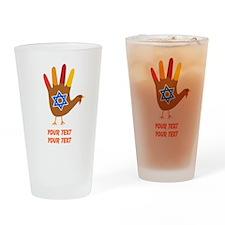 Personalize Thanksgivukkah Drinking Glass
