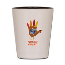 Personalize Thanksgivukkah Shot Glass