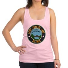 Camp crystal lake Racerback Tank Top
