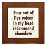 Chocolate Voices Framed Tile