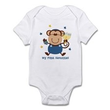 Monkey Boy 1st Hanukkah Infant Bodysuit