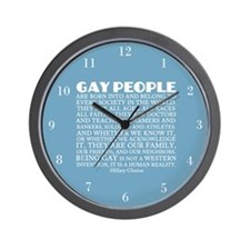 Gay People Clinton Quote Wall Clock