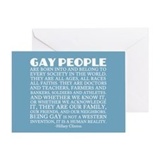 Gay People Clinton Quote Greeting Card