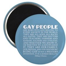 Gay People Clinton Quote Magnet