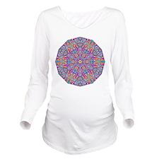 Digital Mandala 4 Long Sleeve Maternity T-Shirt