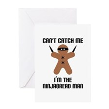 Ninjabread Man Greeting Card