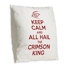 Keep Calm #1 Burlap Throw Pillow