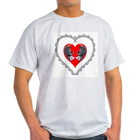 Opossum Valentines Day Heart Ash Grey T-Shirt