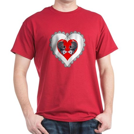 Opossum Valentines Day Heart Dark T-Shirt
