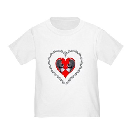 Opossum Valentines Day Heart Toddler T-Shir