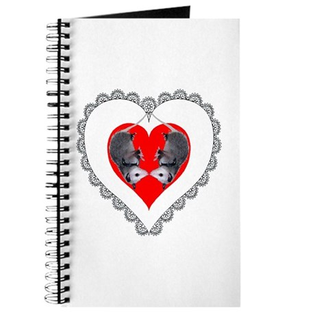 Opossum Valentines Day Heart Journal