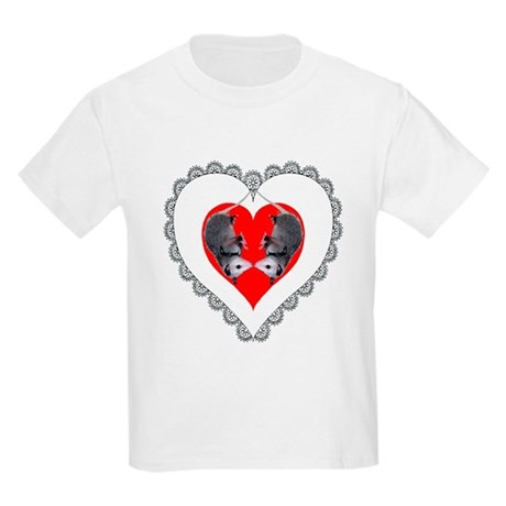 Opossum Valentines Day Heart Kids T-Shirt