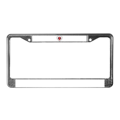 Opossum Valentines Day Heart License Plate Frame