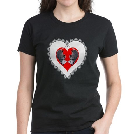 Opossum Valentines Day Heart Women's Dark T-Shirt