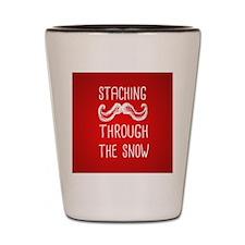 Staching Through the Snow Shot Glass