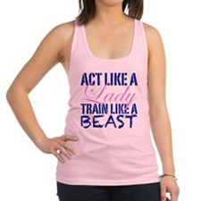 Act Like A Lady Racerback Tank Top