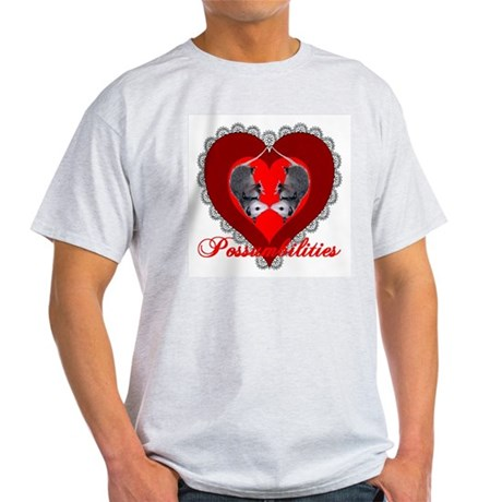 Possumbilities Valentines Day Ash Grey T-Shirt